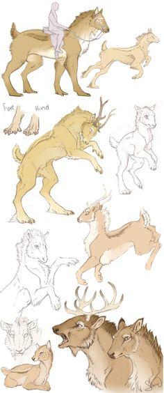 Creative deer-like animal
