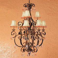 Classic Lighting Asheville 9-Light Copper Bronze Chandelier