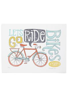 Brian's Training Wheels Print from ModCloth @ $17.99