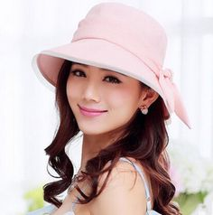 Fashion bow bucket hat for women elegance sun protection hats