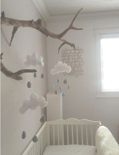 decorate the nursery- das Kinderzimmer schmücken the nursery … - Baby Boy Rooms, Baby Bedroom, Nursery Room, Kids Bedroom, Nursery Decor, Room Decor, Nursery Ideas, Bedroom Ideas, Nursery Inspiration