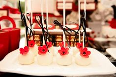 Poppy Themed Baby Shower by Lilian of Lily Chic Events via www.babyshoweride... #babyshowerideas4u