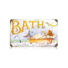 Vintage Mermaid Bath Metal Sign adds unique decor to your home or business. Every Americana Bathroom collector would love this unusual gift. All Mermaid Bath Tin Signs are pre-drilled and ready to hang. Bedroom Vintage, Vintage Walls, Vintage Home Decor, Mermaid Sign, Mermaid Mermaid, Bath Sign, Mermaid Bathroom, Mermaid Room, Vintage Metal Signs