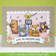 We got the band together for a Critter Concert! Check out the Intro to this fun new music-themed set today on the blog! #lawnfawn…