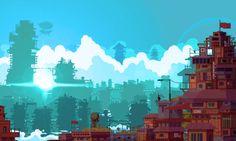 pixel art landscape | Tumblr