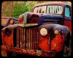 old car...colors and textures distorted over time.