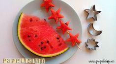 Postres originales: Recortar fruta | http://papelisimo.es/postres-originales-recortar-fruta/