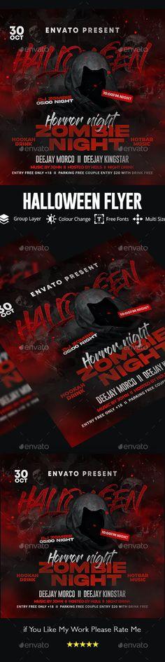 Halloween Flyer by GOURAVDESIGNS   GraphicRiver