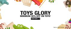 Toys Glory at #Flipkart - Get minimum 30% OFF + up to 70% Discount  Discount on Action Figures, Art & Craft Toys, Baby Toys, Blocks & Building Sets, Board Games, Dolls & Doll Houses, Learning & Educational Toys, Musical Instruments & Toys, Remote Control Toys, School Supplies and lots more  #Toys #Shopping #India