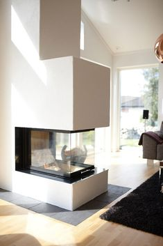 fireplace as room divider