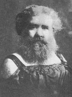 Grace Gilbert (1876-1924). Originally from Ohio, she was already a professional bearded lady by age 18.  At that time she was working for Ringling Brothers, although she was soon hired away by the Barnum and Bailey organization which at that time had not yet merged with Ringling (in fact they were competitors). She also worked for the McCaddon circus and Hagenbeck-Wallace.