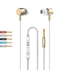 I-7 Earphone  In Ear handsfree Earphones 3.5mm Earbuds for iPhone For Samsung With Remote And MIC Y8 #Affiliate
