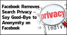 Facebook Removes Search #Privacy – Say Good-Bye to Anonymity on #Facebook @Boom! Social with Kim Garst
