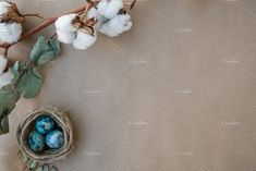 Easter blue eggs background by tanyagolieva on @creativemarket