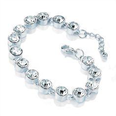 Wedding Bridal Braceket with Crystal Details