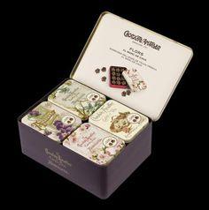 Flors al Marc de Cava 12u caja expositora metal 20u - Chocolates Amatller