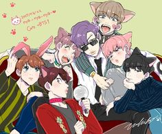 Naaawww look at kookie crying bc he's the only bunny in the familyT^T