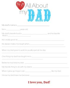 Dad Questionaire Color