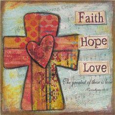 Faith Hope Love Canvas Wall Art | Shop Hobby Lobby