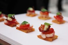 All the hors d'oeuvres from Mary Giuliani were bite-size, including the lobster club (pictured) and desserts such as the miniature...