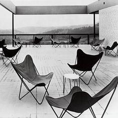 Butterfly Chair designed by Juan Kurchan, Antonio Bonet and Jorge Ferrari-Hardoy in 1938.