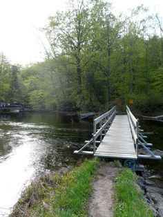Foot bridge at Kingsford Dam. Frontenac Provincial Park