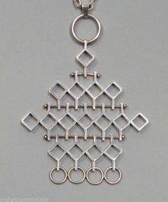 """Jorma Laine, Finland, silver necklace """"Ruutu"""""""