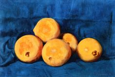 Oranges Hans Emmenegger - 1932 Private collection Painting - oil on panel Height: 28 cm (11.02 in.), Width: 42 cm (16.54 in.)