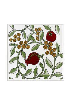 Homes wish list: V collection pomegranate tile, £16 – britishceramictile.com for stockists