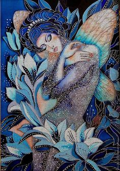 Needlepoint canvas 'Fairy tale of night (had known as N.Sokolova)' by Irina Vasileva