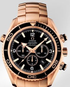OMEGA Watches: Seamaster Planet Ocean Chrono - Red gold on red gold -