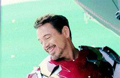 RDJ/ tony stark smile