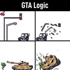 Gta Logic, Gaming Memes, Popular Memes, It Hurts, Give It To Me, Playing Cards, Poster, Jokes, Relationship