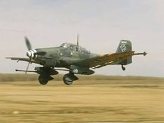 The Junkers Ju 87 or Stuka was a German dive bomber and ground-attack aircraft designed by Hermann Pohlmann and first flew in 1935. The Ju 87 made its combat debut in 1937 with the Luftwaffe's Condor Legion during the Spanish Civil War. It served the Axis forces in World War II.