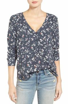 Hinge Shirred Blouse
