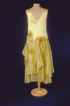 Yellow evening dress, 1929.
