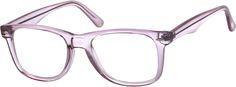 Purple Women's Translucent Square Eyeglasses #1236   Zenni Optical Eyeglasses