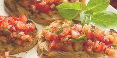 BRUSCHETTA WITH TOMATO AND BASIL - Delicious!!