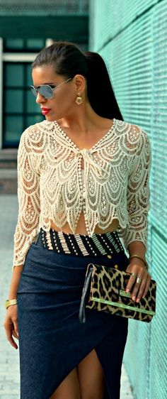 "Crazy For #Crochet! It may be a little ""hooched"" with the front portion of the skirt but I can't say that this doesn't inspire me!"