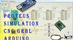 Proteus Simulation CNC GRBL Arduino Part. 1