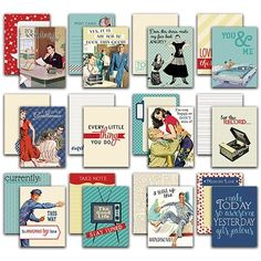 """Authentique Paper Dapper Authentic Life Cards 36/Pkg-3""""X4"""" Pocket Crafting & Journaling Cards"""