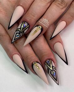Maybe you have discovered your nails lack of some modern nail art? Sure, recently, many girls personalize their nails with lovely … Hot Nail Designs, Beautiful Nail Designs, Beautiful Nail Art, Gorgeous Nails, Pretty Nails, Nail Swag, Stiletto Nail Art, Stiletto Nail Designs, Fire Nails
