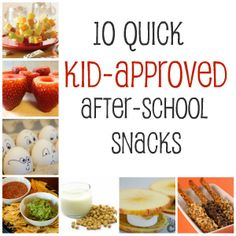 Quick! after school snacks!
