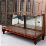 Oak and Glass Display Cabinet