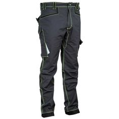 These Cofra Montijo work trousers/pants are made of stretch fabric and feature a reinforced crotch and elasticated waist. There's also plenty of pockets and loops to keep your tools close to hand. Workwear Brands, Safety Workwear, Work Trousers, Trouser Pants, Leg Cuffs, Stretch Fabric, Work Wear, Parachute Pants, Pockets