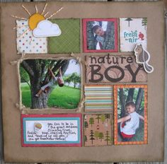 nature boy - Scrapbook.com - #scrapbooking #layouts #imaginisce