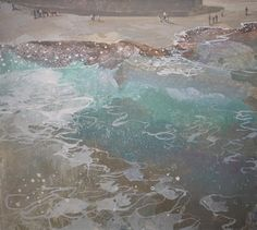 Ruth Stage, 'Beachlife Whitby', egg tempera, 22x25 inches