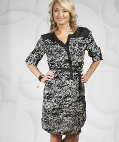 GT Boutique Shirt Dress (BW Contrast) - Getthis