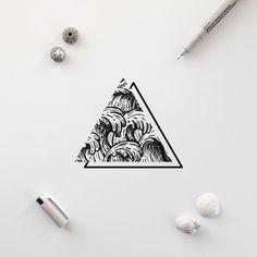 "233 Likes, 11 Comments - R o i M a r t i n e z (@xoseroi) on Instagram: ""Waterfall dream #illustration #tiny #waterfall #nature"""
