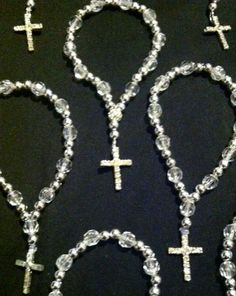 Rosary bracelets perfect for baptisms, first communions, and wedding favors.. $3.99, via Etsy.
